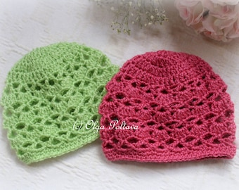 Bright Shells Baby Hat Crochet Pattern, Size 0-3 Months, Baby Crochet Pattern, Instant PDF Download