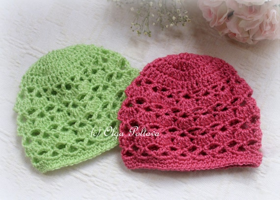 Crochet Baby Hat Patterns 0 3 Months : Bright Shells Baby Hat Crochet Pattern Size 0-3 Months Baby