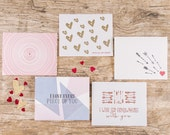 Valentine's Greeting Card - Pack of 5