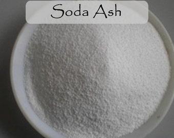 Soda Ash - Sodium Carbonate - Washing Soda - Soda Glass - Soda Ash Fixer - 4oz & 8oz