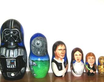 Star wars nesting doll  12  pieces (32 cm)