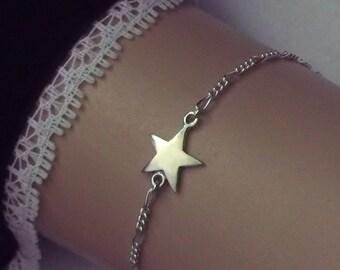 Star Anklet or Bracelet . All sterling silver