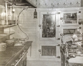 Pullman Train Commercial Kitchen Vintage Photo