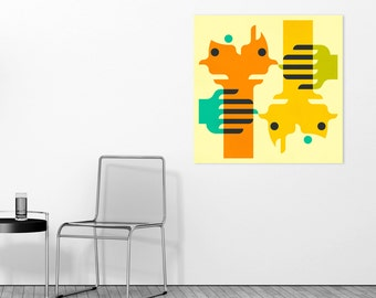CLOSER 2 ME, Ready-to-Hang, Abstract Wall Art for the Home Decor