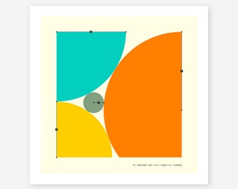 DESCARTES THEOREM, Minimal, Geometric Wall Art, Giclée Fine Art Print by Jazzberry Blue