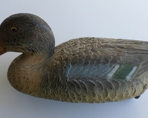 Vintage Duck Decoy Made in Italy, Heavy Weight Plastic, Duck Hunting, Sport Hunting, Bird Hunting, Shooting, Outdoor Sports