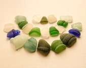 Frosted Bottle Rims,Cobalt Blue/White/Green/Sea Foam Blue Beach Glass, Pendant Supplies, Jewelry Supply,Sea Glass Charms Supplies