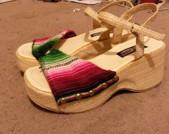 90s Platform Huarache Sandals