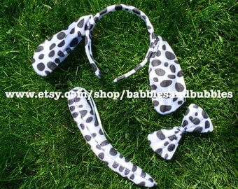 Comfortable Dalmatian Ears Headband - Dog Ears Costume - Halloween Costume - NEXT DAY SHIPPING!