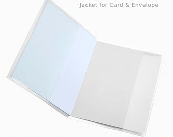 100 Pack A7 Card Jackets, Cello Bags, Dust Jackets; Hold One A7 Card and One A7 Envelope