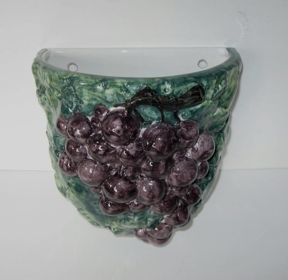 Vintage Intrada Wall Planter Ceramic Wall Grape Vase