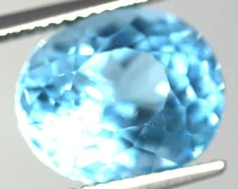 Natural Swiss Blue Topaz 8.65 Carat Gemstone Africa
