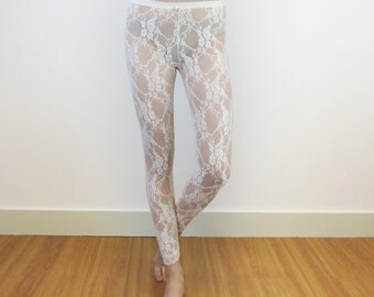 Ivory lace leggings