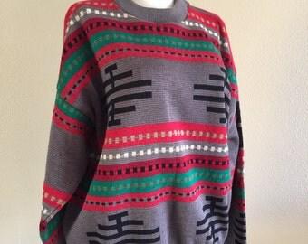 70s Pendleton High Grade Western Wear Native American Wool Sweater