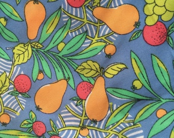 Vintage Fruit Motif Dress Fabric Yardage