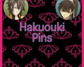 """Hakuouki 2.25"""" or 1.5"""" Pin-back Buttons"""