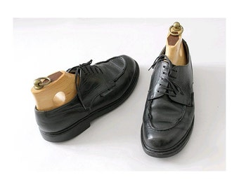 PARABOOT Chambord  french vintage shoes black leather usmen 7.5 euro 40