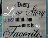 Love Story 12x12 wood sign