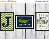 ONSALE Alligator Nursery  - 3 Print Set - Boy's Nursery Decor Children's Room Decor