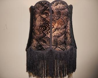 Black Magic - Handmade, custom one of a kind lampshade