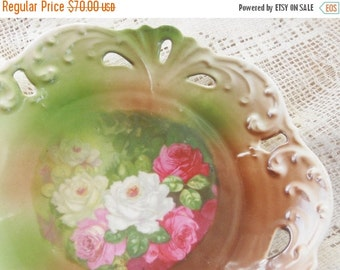 On Sale Gorgeous JPL Duval Limoges Ornate Candy Dish/Bowl, Signed - Antique, French Decor, Cottage Style, Victorian, Shabby Chic, English Co