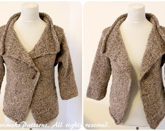 Knitting PATTERN - Caribou wrap, cardigan jacket pattern, clothing patterns laurimuks  - Listing150