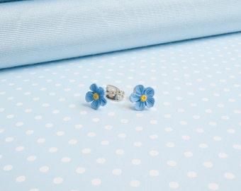 single Forget Me Not earrings