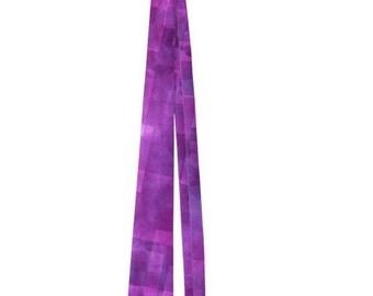 Abstract Purple Squares Men's Neck Tie
