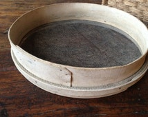 Antique French Wooden Seed Sieve Thresh ~ Seed Harvester ~ Primitive ~ Garden Seed Savers Screen ~ Home Decor