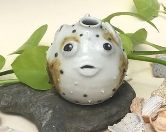 Little Pufferfish bud vase, original baby