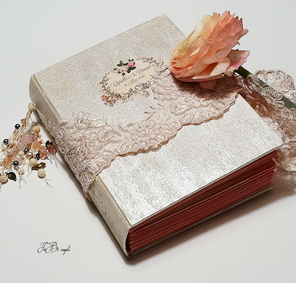 8x10 Wedding Albums: Wedding Guest Book Elegant Wedding Album Photo Album By