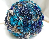RESERVED for Sarah Custom Order 10 inch Brooch Bouquet BALANCE Payment