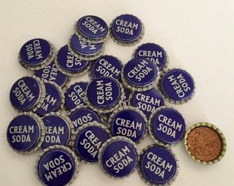 Bottle Caps / 10 Vintage Bottle Caps Purple Cream Soda Bottle Caps