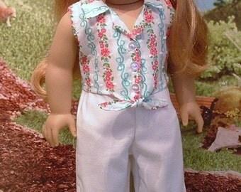 Sleeveless Summer Pant Set for American Girl
