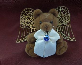 Vintage Christmas Brooch or Pin.  Angel Bear.  Nice Condition