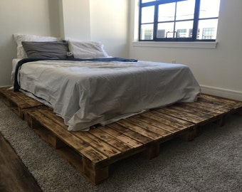 Pallet Platform Bed Available in Queen, King, Full & Twin Size