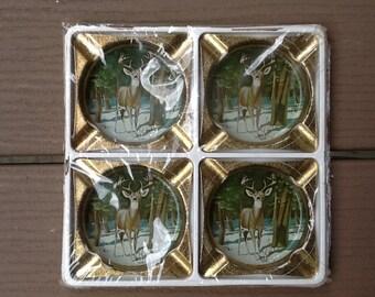 Vintage Deer Coasters