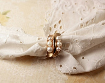 Vendome Faux Pearl Ring - Vintage 1960s