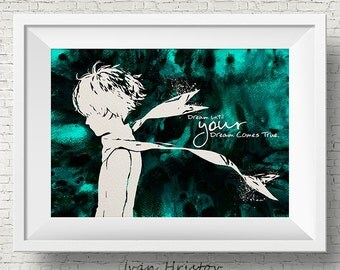 The Little Prince inspired Quote Le Petit Prince Watercolor illustrations Art Print Giclee Wall Decor Art Home Decor Wall Hanging