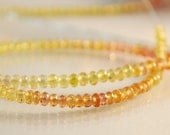 Reserved - Custom Cluster Bracelet in Shades of Gold, Yellow and Orange