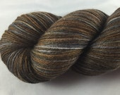 Walking Carpet: Star Wars inspired yarn, Wookiee, brown yarn, Chewbacca, hand dyed sock yarn, nerd yarn