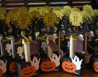 10 3D Halloween Party Invitations with Test Tube