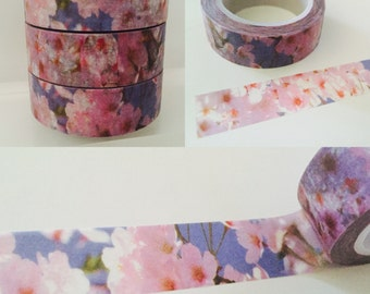 Pink and Purple Cherry Blossom Washi Tape