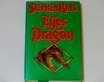 Stephen King - The Eyes of the Dragon - David Palladini - First Edition Viking Press 1987 - Vintage Illustrated Fiction Book - Fantasy Novel
