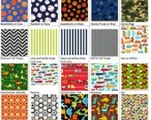Little Guy Fabrics for Reusable Sandwich & Snack Bags (Set of 1 to 5) with Zipper Closure