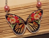 Vintage Inspired Monarch Butterfly Necklace
