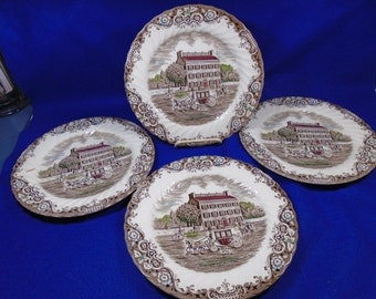 Heritage Hall 4 Dinner Plates Georgian Town House Johnson Brothers