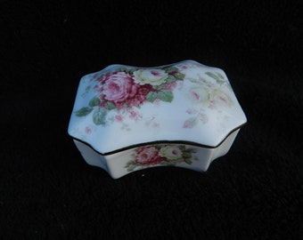 Trinket Box: Hand Decorated Porcelain