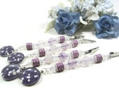 Purple Amethyst Tablecloth Weights, Tablecloth Anchors, Curtain Tie Back Clips, Craft Show Display
