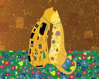 Cats: Klimt's Kats Magnet